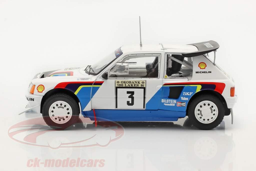 Peugeot 205 T16 E2 #3 2do Rallye 1000 Lakes 1986 Kankkunen, Piironen 1:24 Ixo
