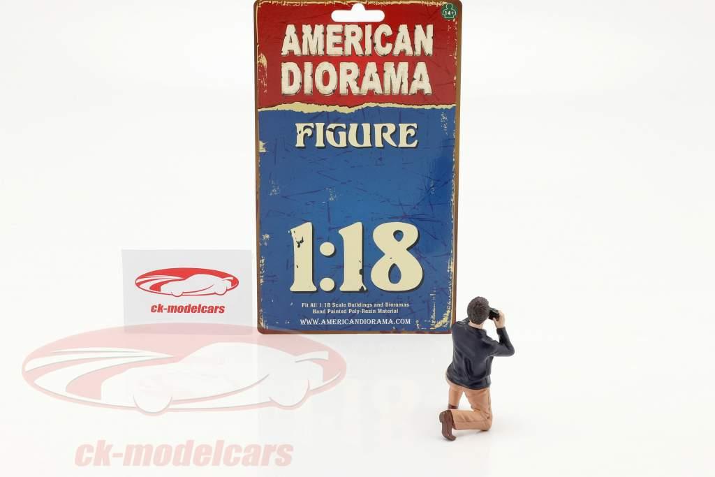 Race Day serie 2  figuur #4  1:18 American Diorama