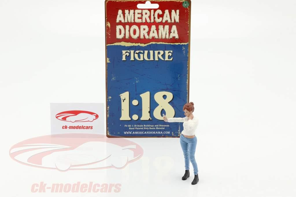 Car Meet serie 1  figuur #1  1:18 American Diorama
