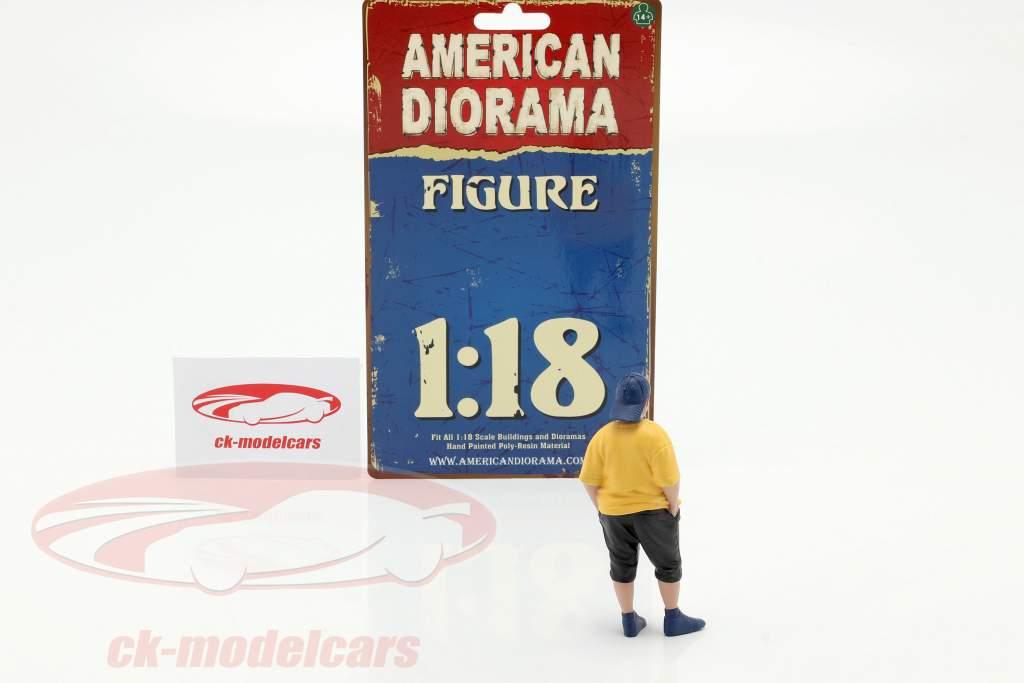 Car Meet Serie 1 Figura #2 1:18 Diorama americano