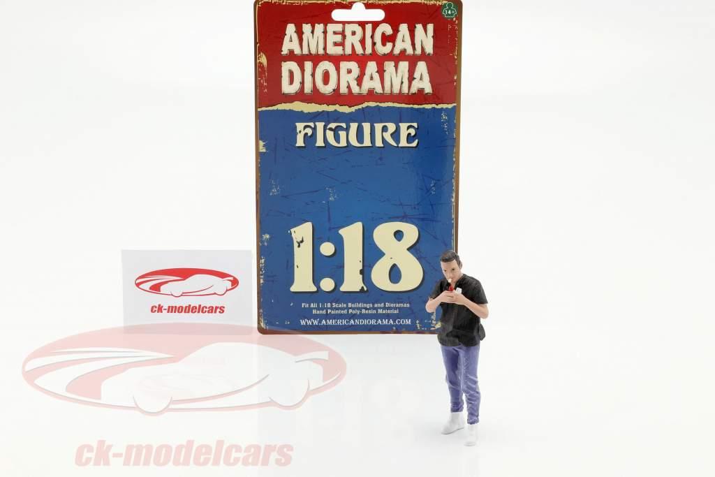 Car Meet serie 1  figuur #6  1:18 American Diorama