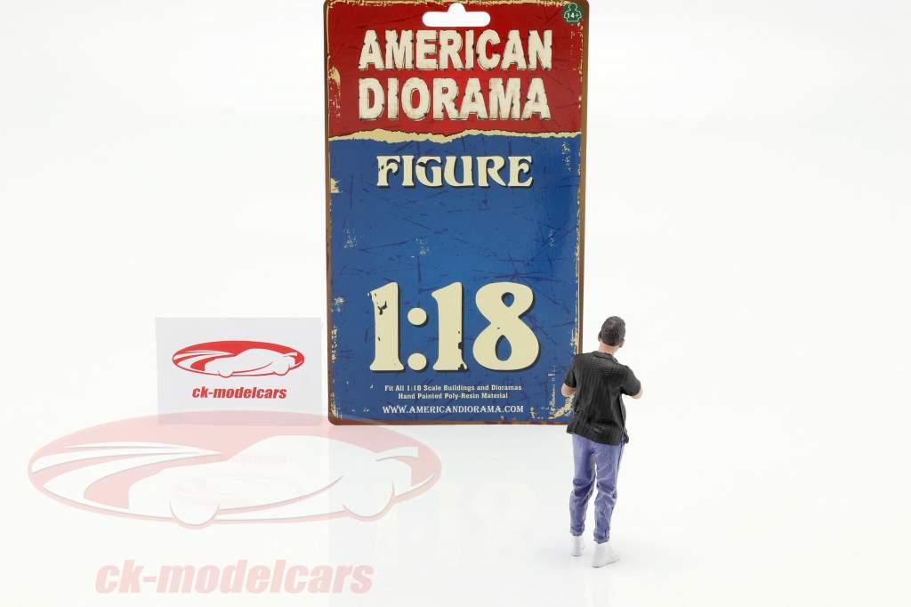 Car Meet serie 1  figura #6  1:18 American Diorama