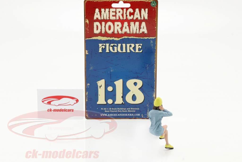 Car Meet serie 1  figur #3  1:18 American Diorama