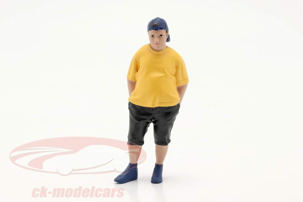 Car Meet Series 1 Figur #2 1:18 Amerikansk Diorama