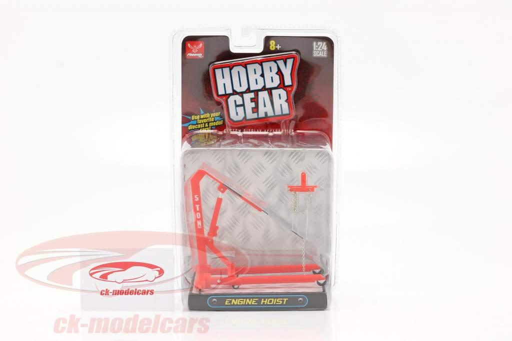 Motor Guindaste vermelho 1:24 Hobbygear
