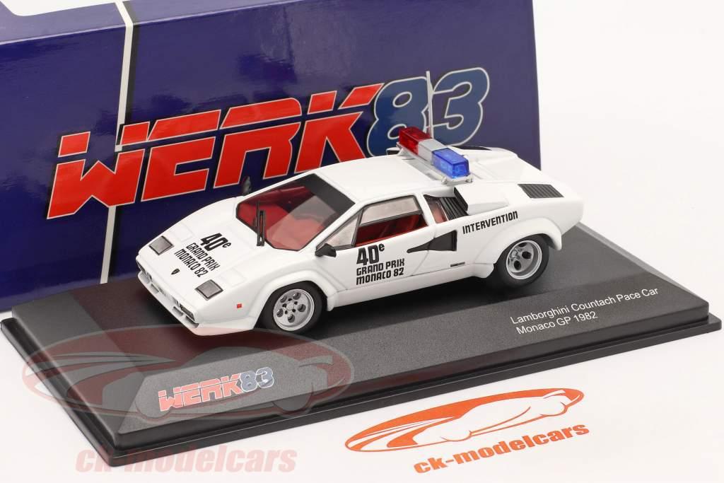 Lamborghini Countach Safety Car Monaco GP formule 1 1982 1:43 Werk83