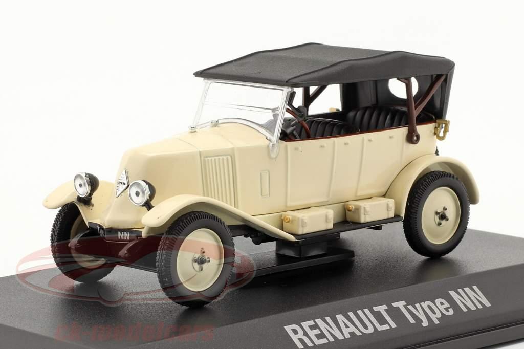 Renault 6CV Type NN Torpedo Byggeår 1925 fløde hvid / sort 1:43 Norev