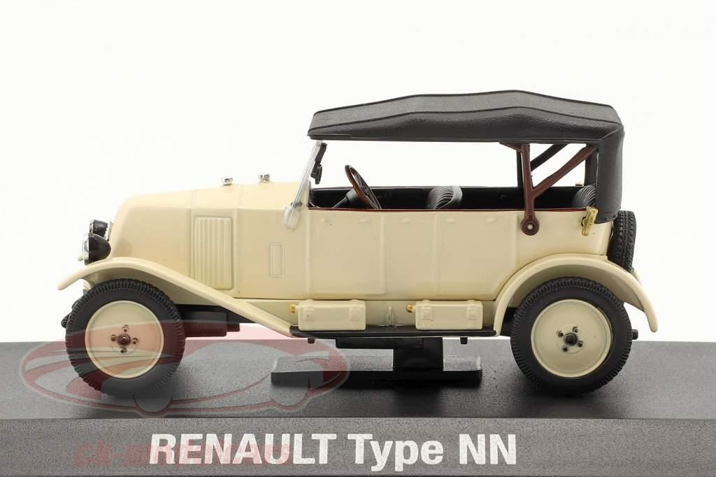 Renault 6CV Type NN Torpedo bouwjaar 1925 Room wit / zwart 1:43 Norev