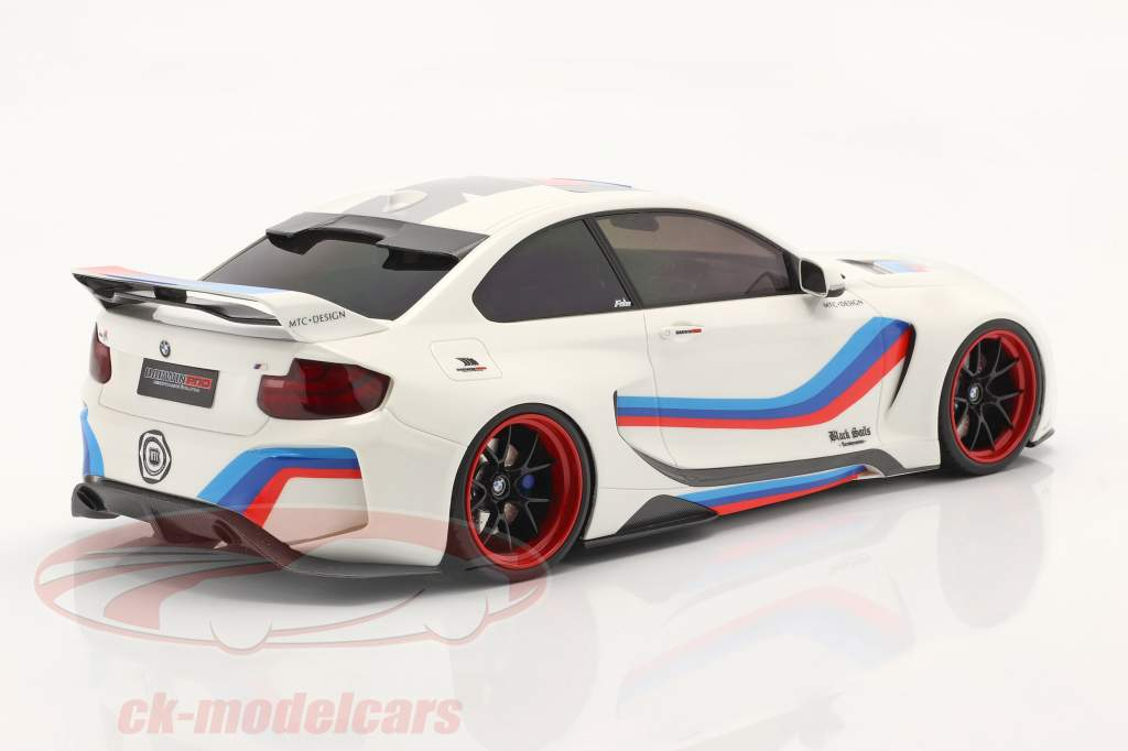 BMW M235i DarwinPro MTC Black Sails Widebody 2018 olympic blanco 1:18 GLM