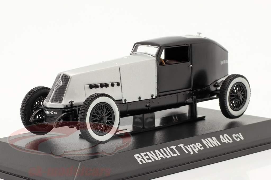Renault Type NM 40 CV Anno di costruzione 1925-1928 d'argento / Nero 1:43 Norev