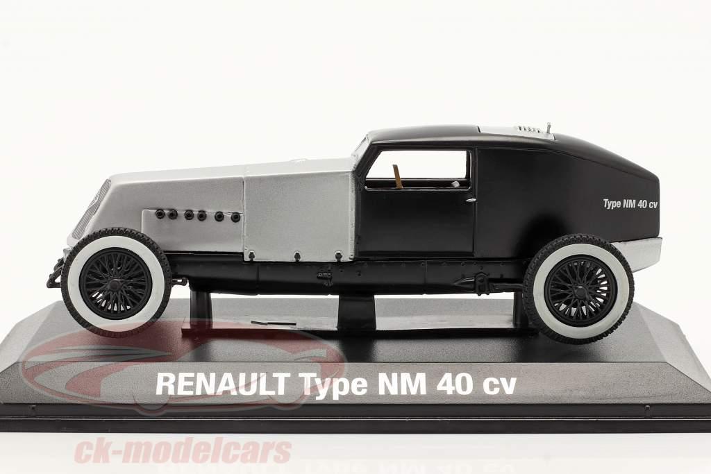 Renault Type NM 40 CV Année de construction 1925-1928 argent / le noir 1:43 Norev