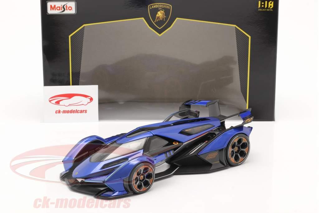Lamborghini V12 Vision GT 2020 blu / Nero 1:18 Maisto