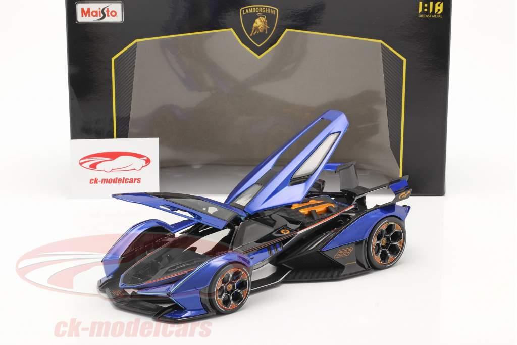 Lamborghini V12 Vision GT 2020 bleu / le noir 1:18 Maisto