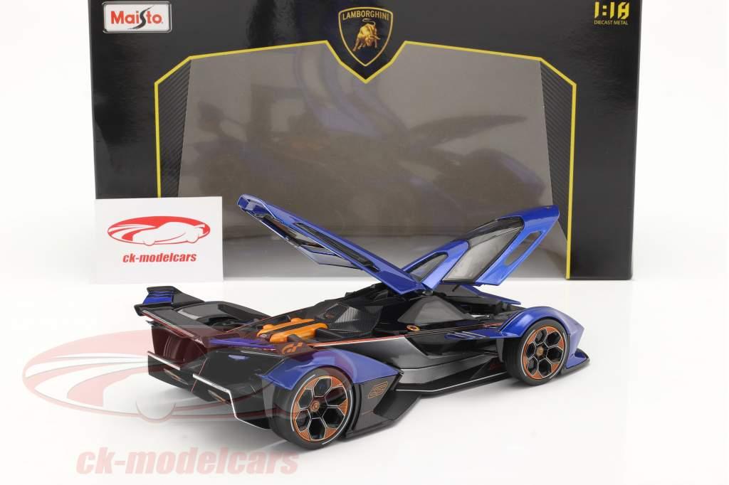 Lamborghini V12 Vision GT 2020 azul / negro 1:18 Maisto