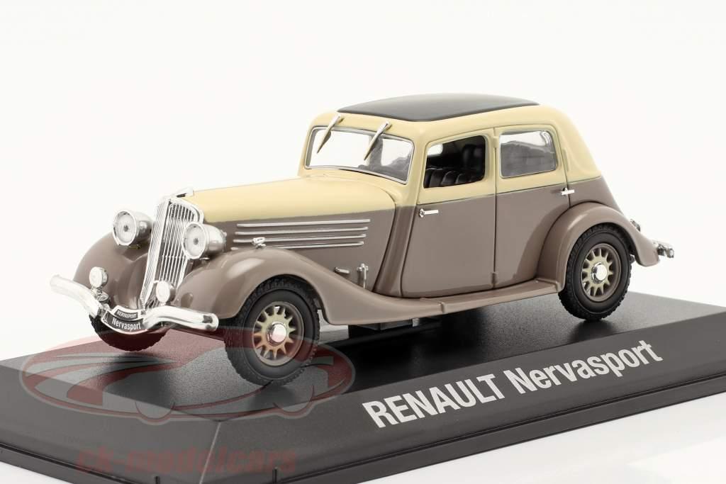 Renault Nervasport Anno di costruzione 1932-1935 Marrone / beige 1:43 Norev