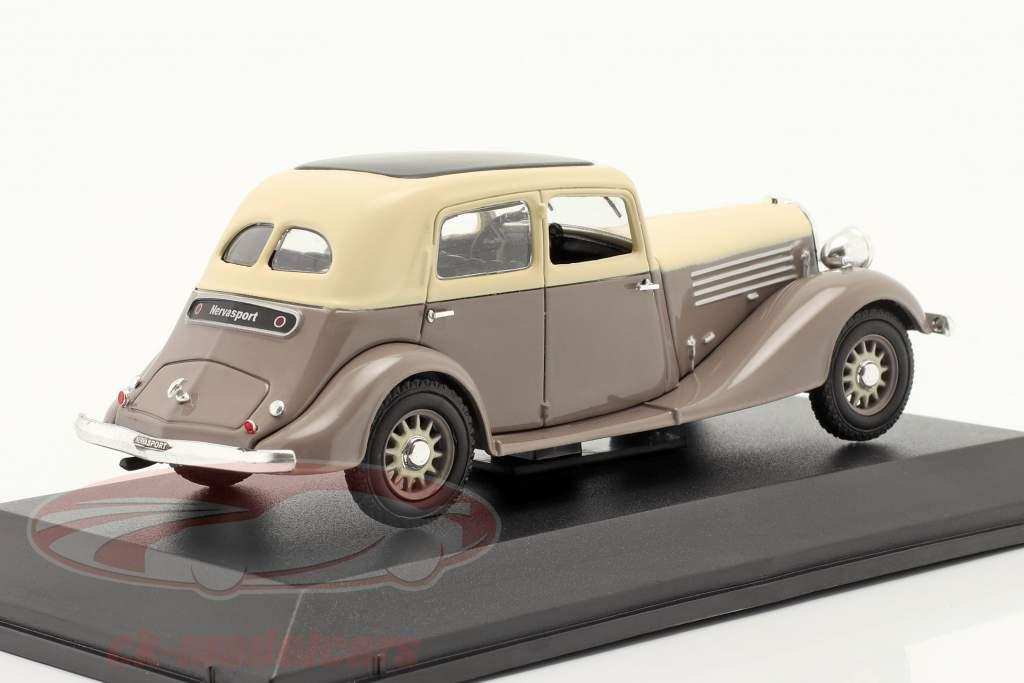 Renault Nervasport Año de construcción 1932-1935 marrón / beige 1:43 Norev
