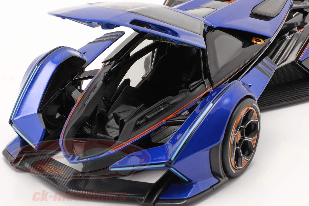 Lamborghini V12 Vision GT 2020 azul / Preto 1:18 Maisto