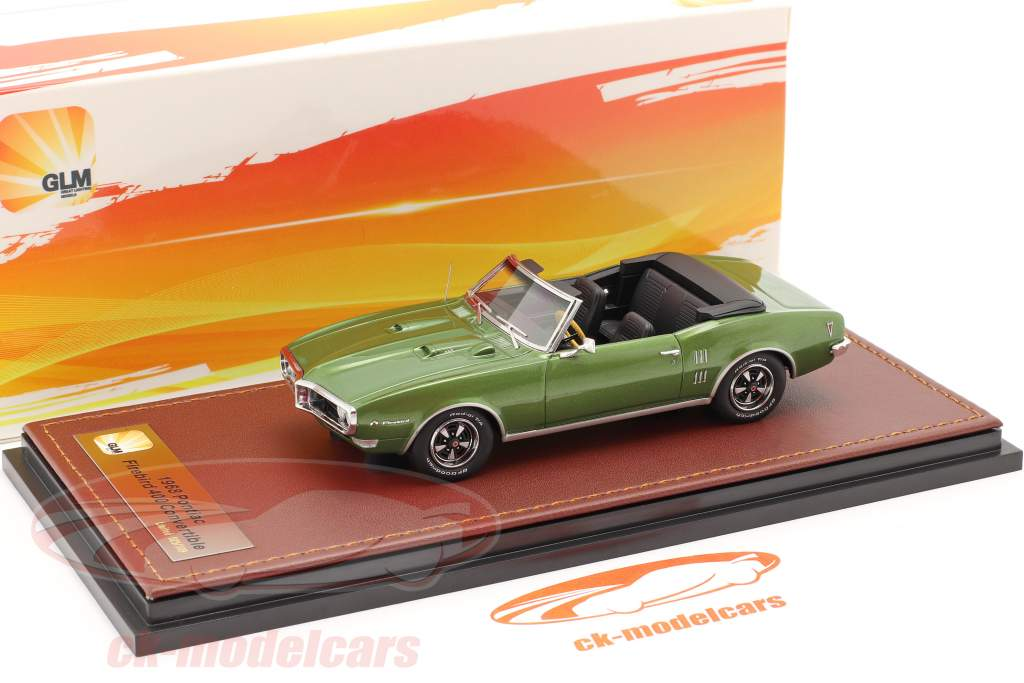 Pontiac Firebird 400 Aprire Convertibile Anno di costruzione 1968 verde metallico 1:43 GLM