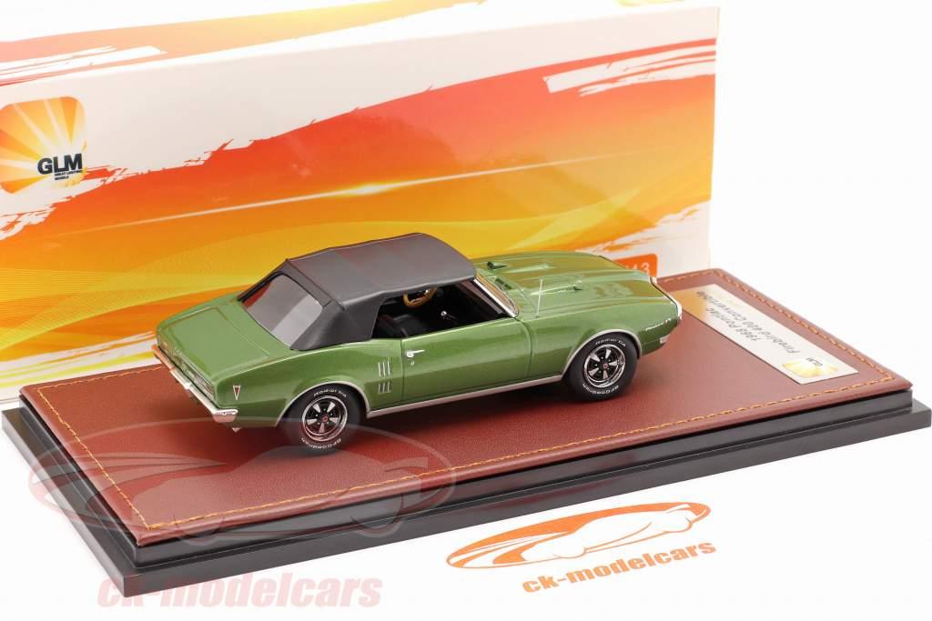 Pontiac Firebird 400 Cerrado Convertible 1968 verde metálico / negro 1:43 GLM