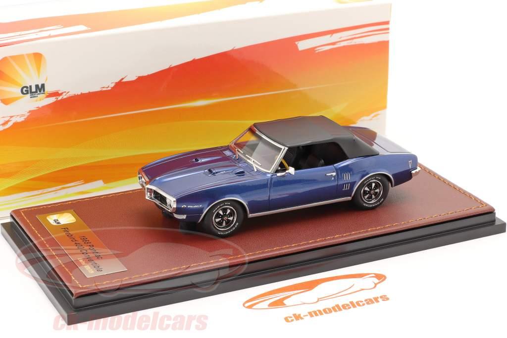 Pontiac Firebird 400 Gesloten Cabrio 1968 donkerblauw / zwart 1:43 GLM