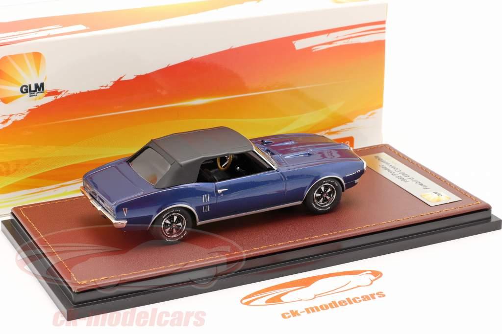 Pontiac Firebird 400 Chiuso Convertibile 1968 blu scuro / Nero 1:43 GLM