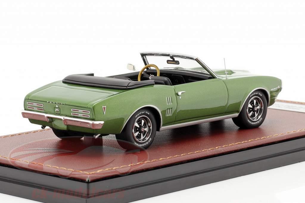 Pontiac Firebird 400 Åben Cabriolet Byggeår 1968 grøn metallisk 1:43 GLM