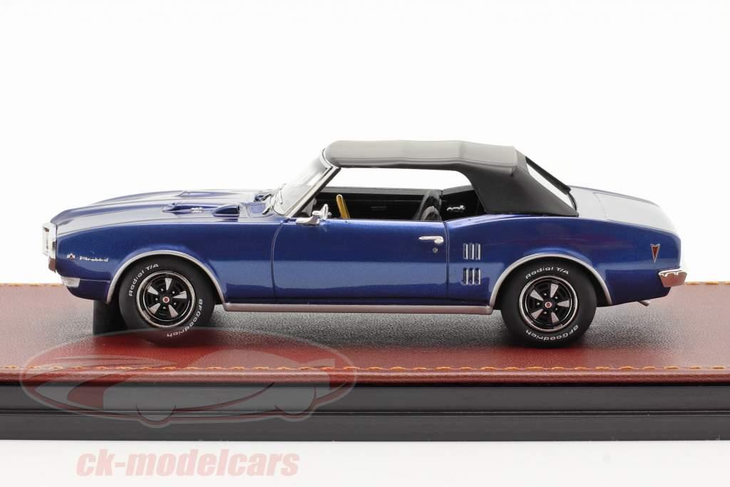 Pontiac Firebird 400 Lukket Cabriolet 1968 mørkeblå / sort 1:43 GLM