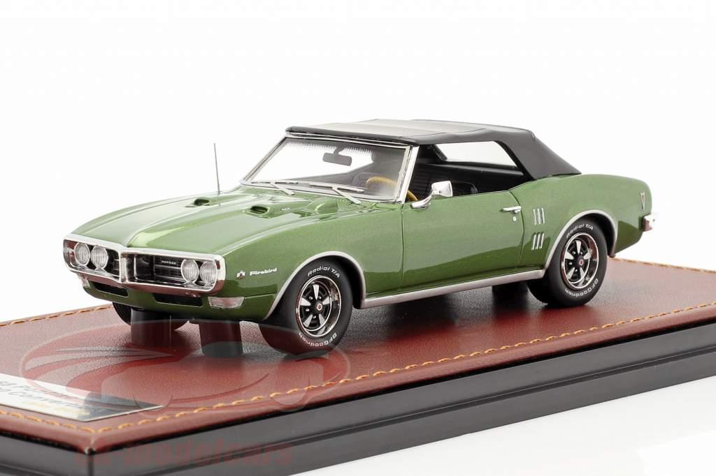 Pontiac Firebird 400 Chiuso Convertibile 1968 verde metallico / Nero 1:43 GLM