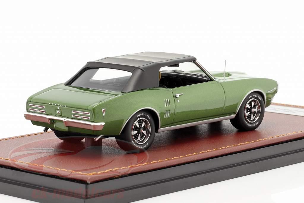 Pontiac Firebird 400 Gesloten Cabrio 1968 groente metalen / zwart 1:43 GLM