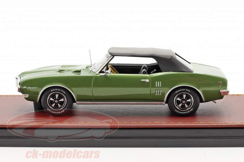 Pontiac Firebird 400 Closed Convertible 1968 grün metallic / schwarz 1:43 GLM
