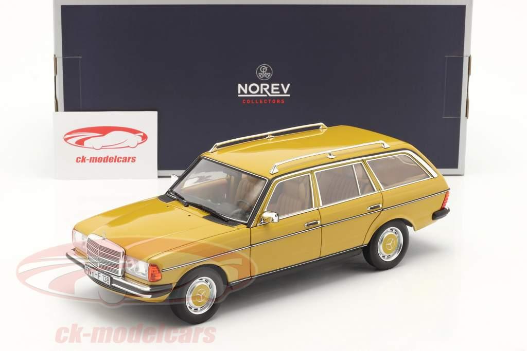 Mercedes-Benz 200 Modelo T (S123) Año de construcción 1982 amarillo 1:18 Norev
