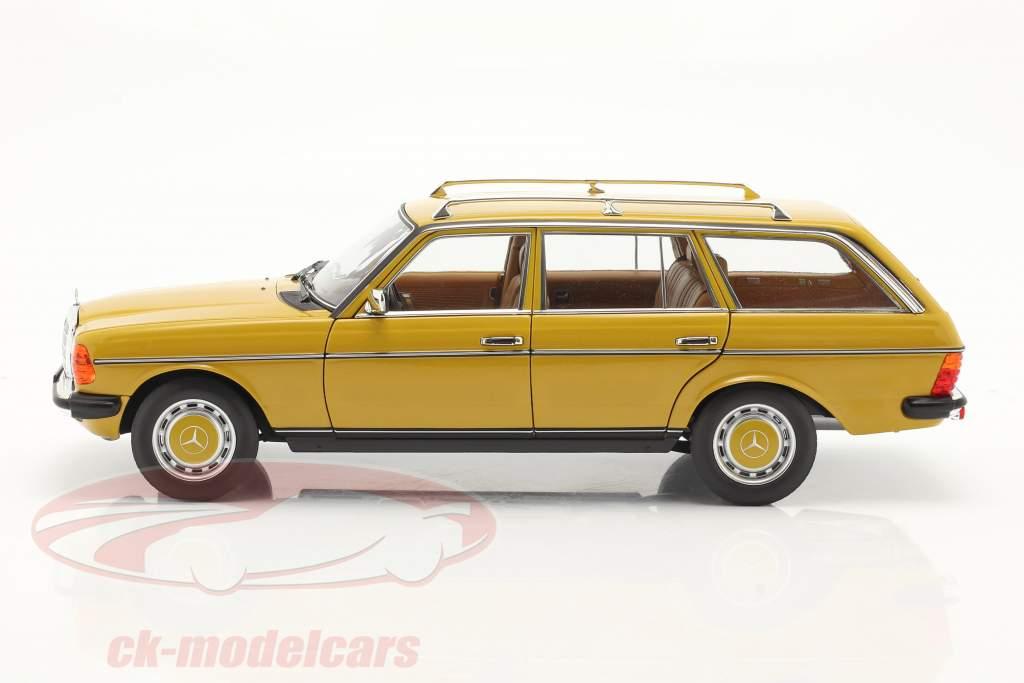 Mercedes-Benz 200 T-model (S123) bouwjaar 1982 geel 1:18 Norev