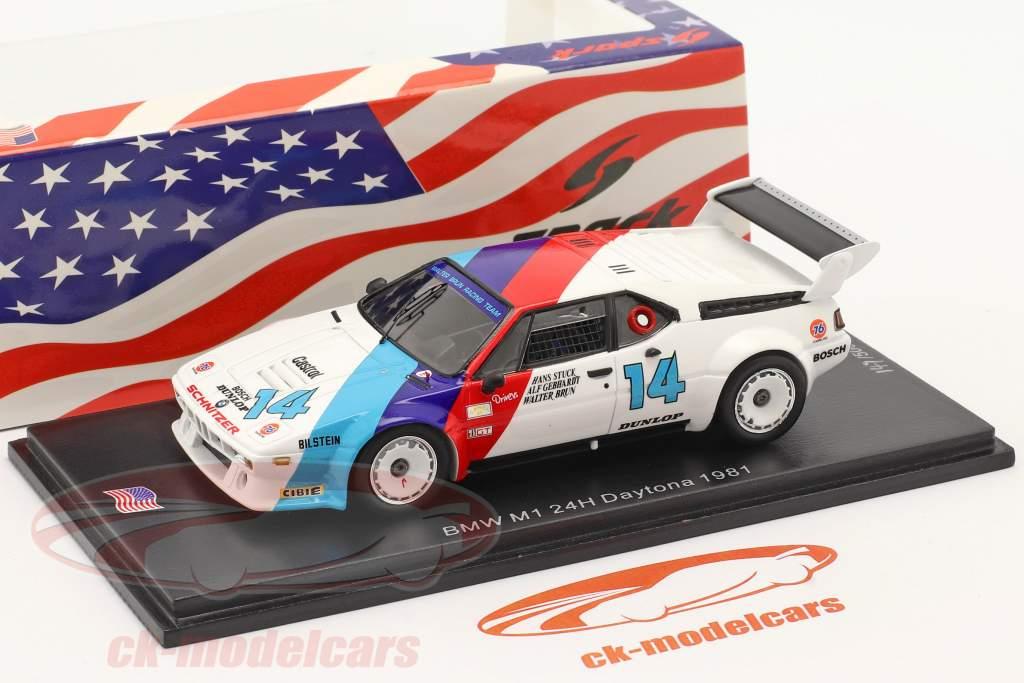 BMW M1 #14 vencedora GTO 24h Daytona 1981 Stuck, Gebhardt, Brun 1:43 Spark