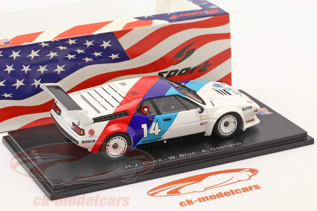BMW M1 #14 Sieger GTO 24h Daytona 1981 Stuck, Gebhardt, Brun 1:43 Spark