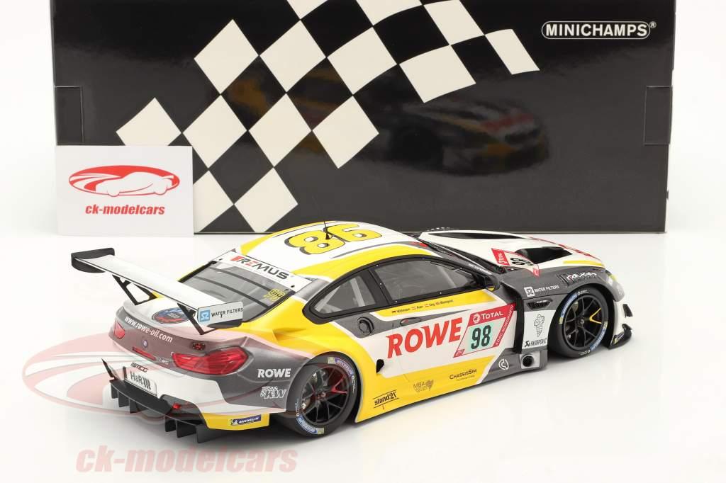 BMW M6 GT3 #98 4º 24h Nürburgring 2020 Rowe Racing 1:18 Minichamps