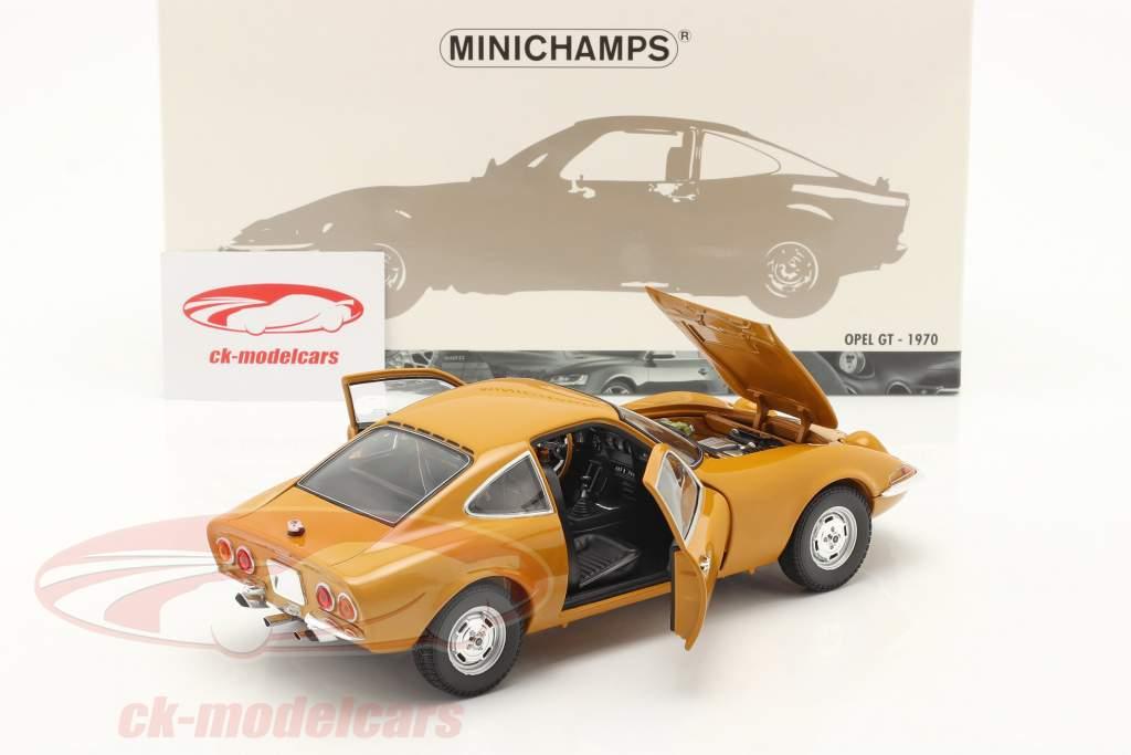 Opel GT Año de construcción 1970 amarillo ocre 1:18 Minichamps