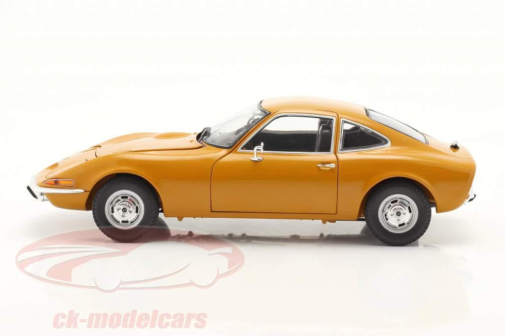 Opel GT Byggeår 1970 oker gul 1:18 Minichamps