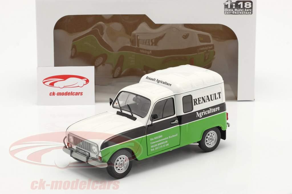 Renault 4 (R4) F4 Agriculture bianca / Nero / verde 1:18 Solido