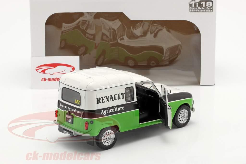 Renault 4 (R4) F4 Agriculture Branco / Preto / verde 1:18 Solido