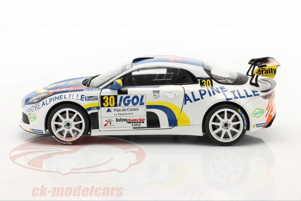 Alpine A110 Rally RGT #30 Rallye du Touquet 2020 Delecour, Guigonnet 1:18 Solido