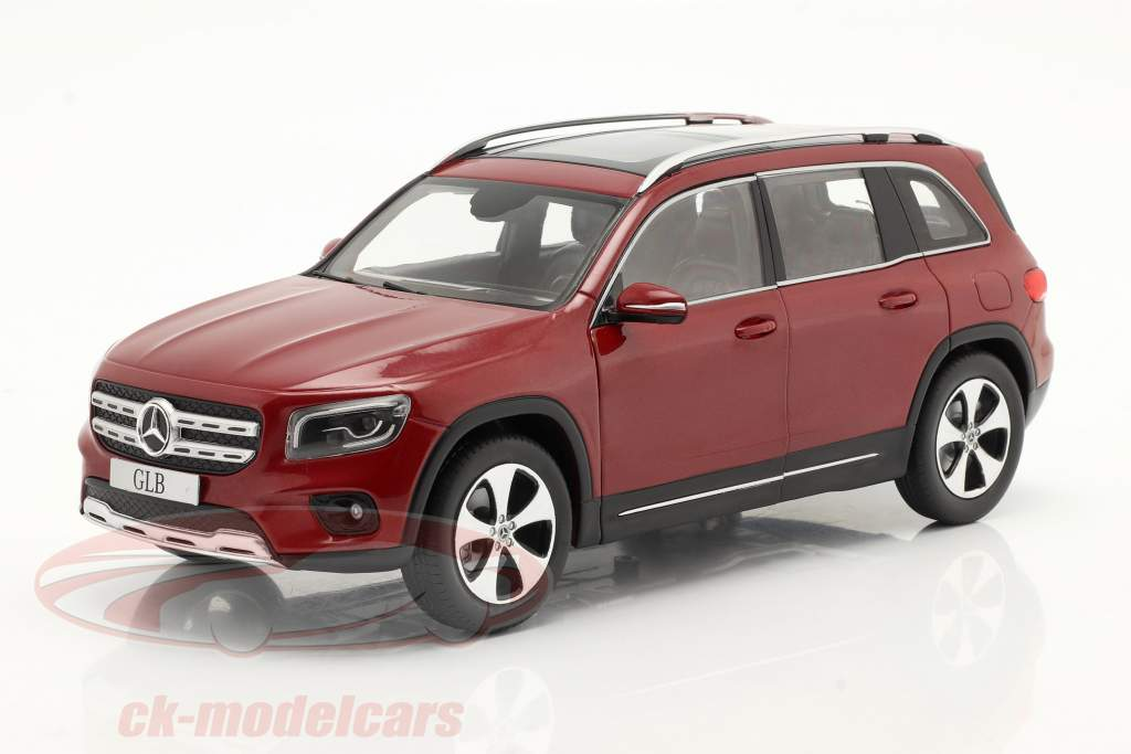 Mercedes-Benz GLB (X247) Anno di costruzione 2019 designo rosso patagonia metallico 1:18 Solido