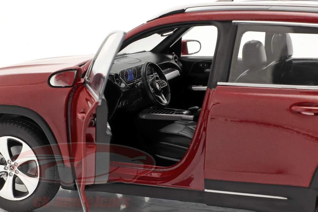 Mercedes-Benz GLB (X247) Ano de construção 2019 designo patagônia vermelha metálico 1:18 Solido