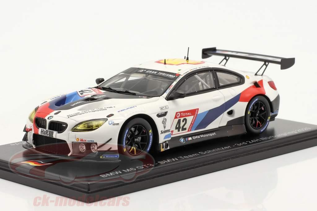 BMW M6 GT3 #42 3e 24h Nürburgring 2020 BMW Team Schnitzer 1:43 Spark