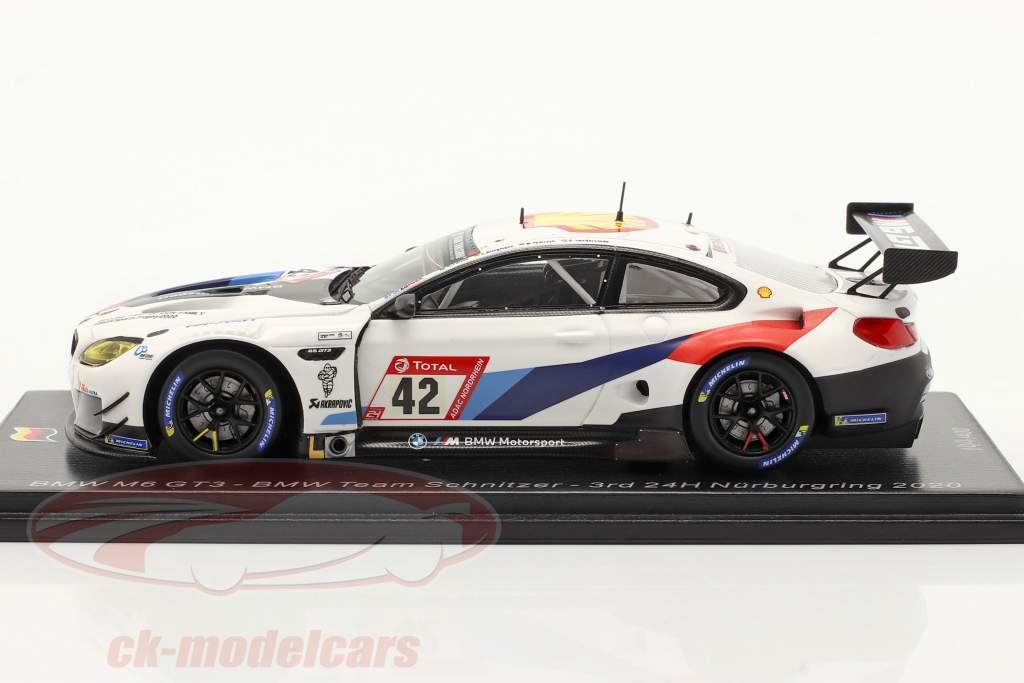 BMW M6 GT3 #42 3° 24h Nürburgring 2020 BMW Team Schnitzer 1:43 Spark