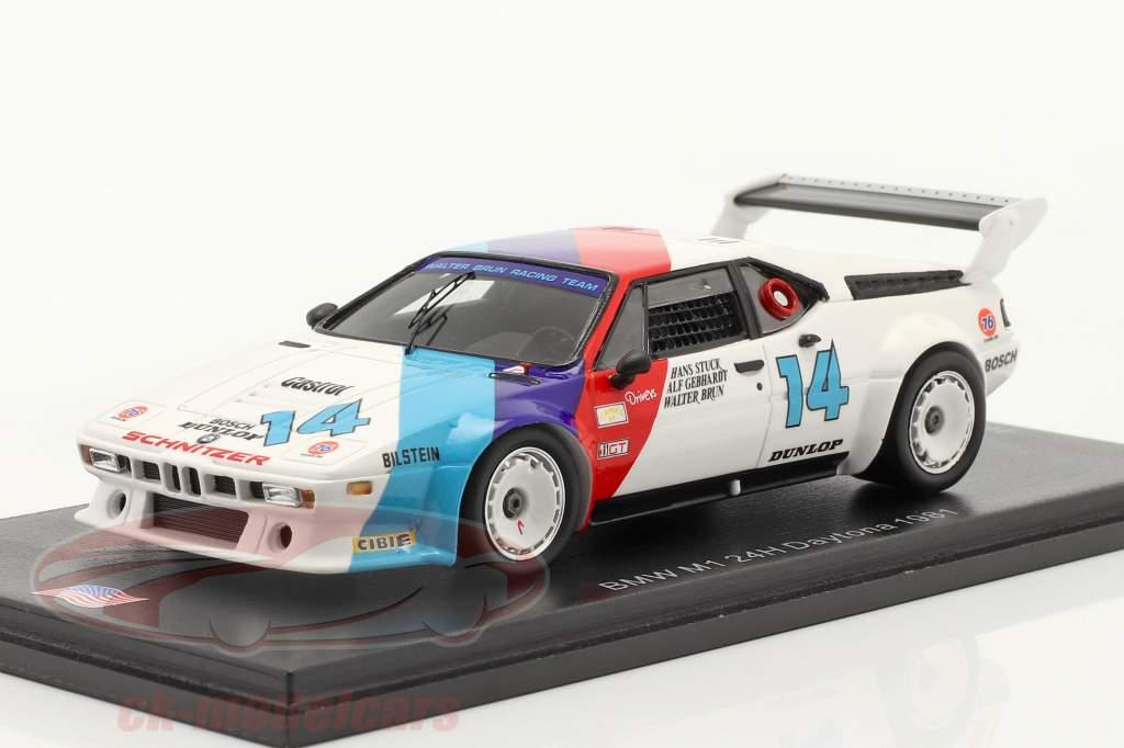 BMW M1 #14 vincitore GTO 24h Daytona 1981 Stuck, Gebhardt, Brun 1:43 Spark