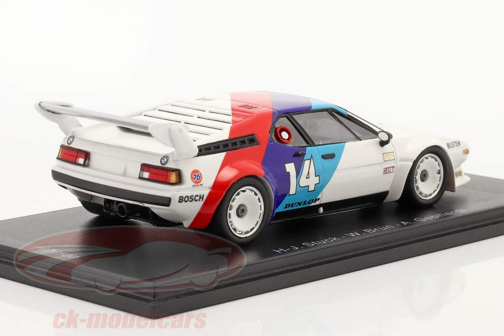 BMW M1 #14 vinder GTO 24h Daytona 1981 Stuck, Gebhardt, Brun 1:43 Spark