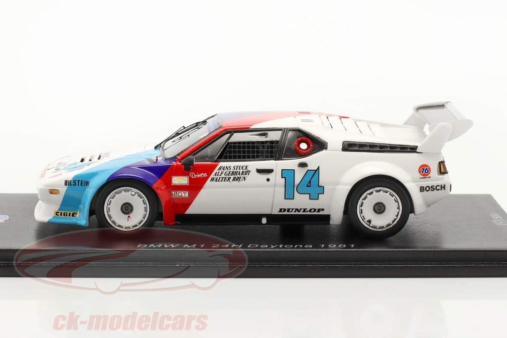 BMW M1 #14 ganador GTO 24h Daytona 1981 Stuck, Gebhardt, Brun 1:43 Spark
