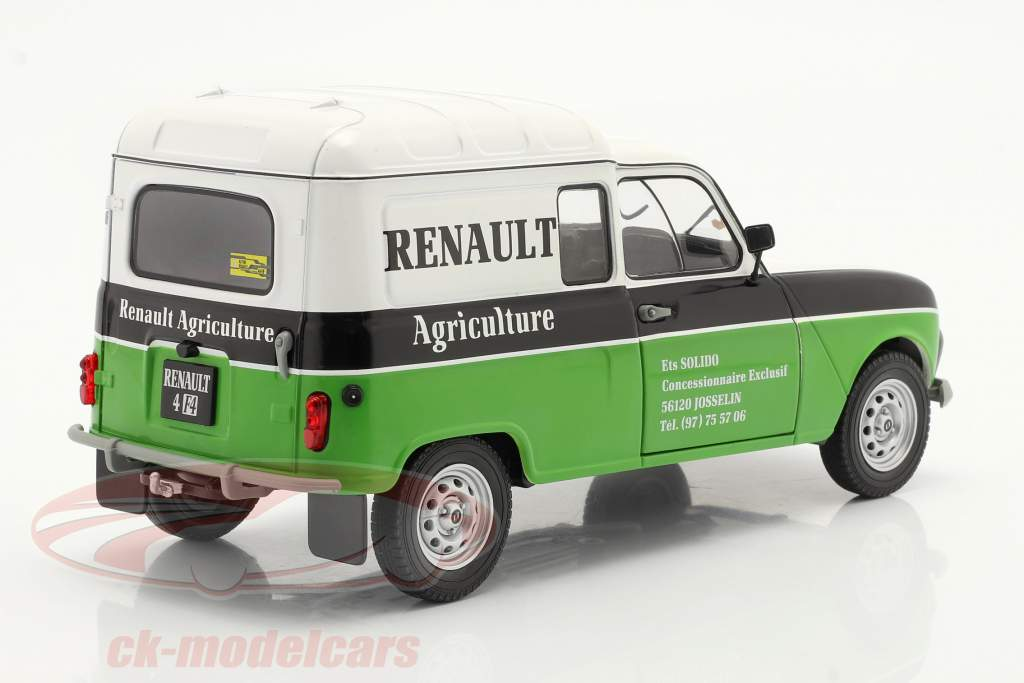 Renault 4 (R4) F4 Agriculture blanco / negro / verde 1:18 Solido