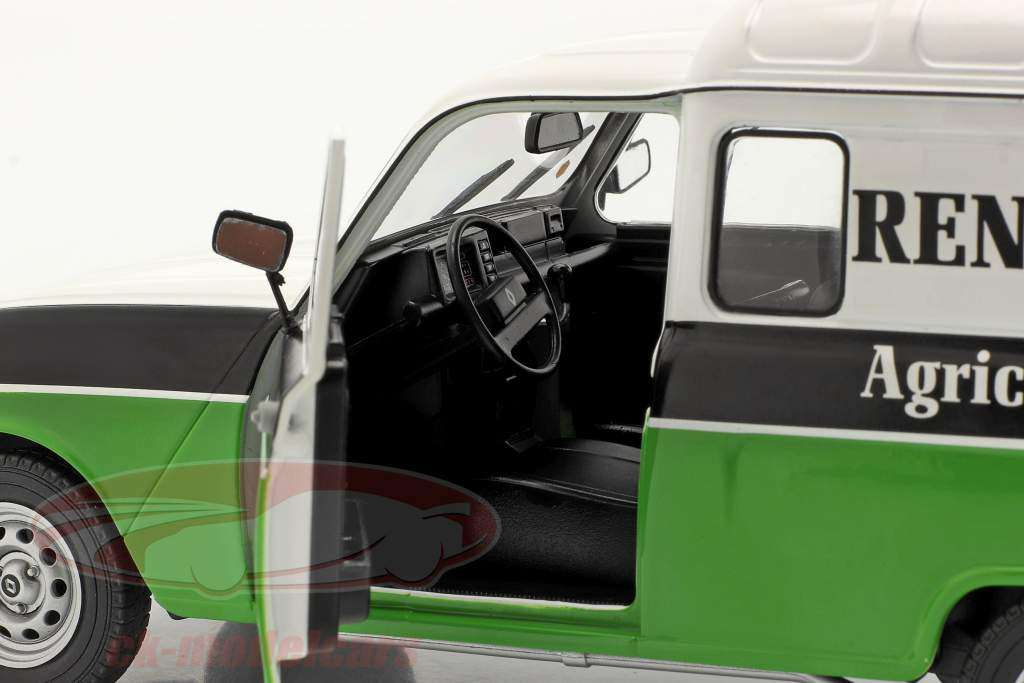 Renault 4 (R4) F4 Agriculture white / black / green 1:18 Solido