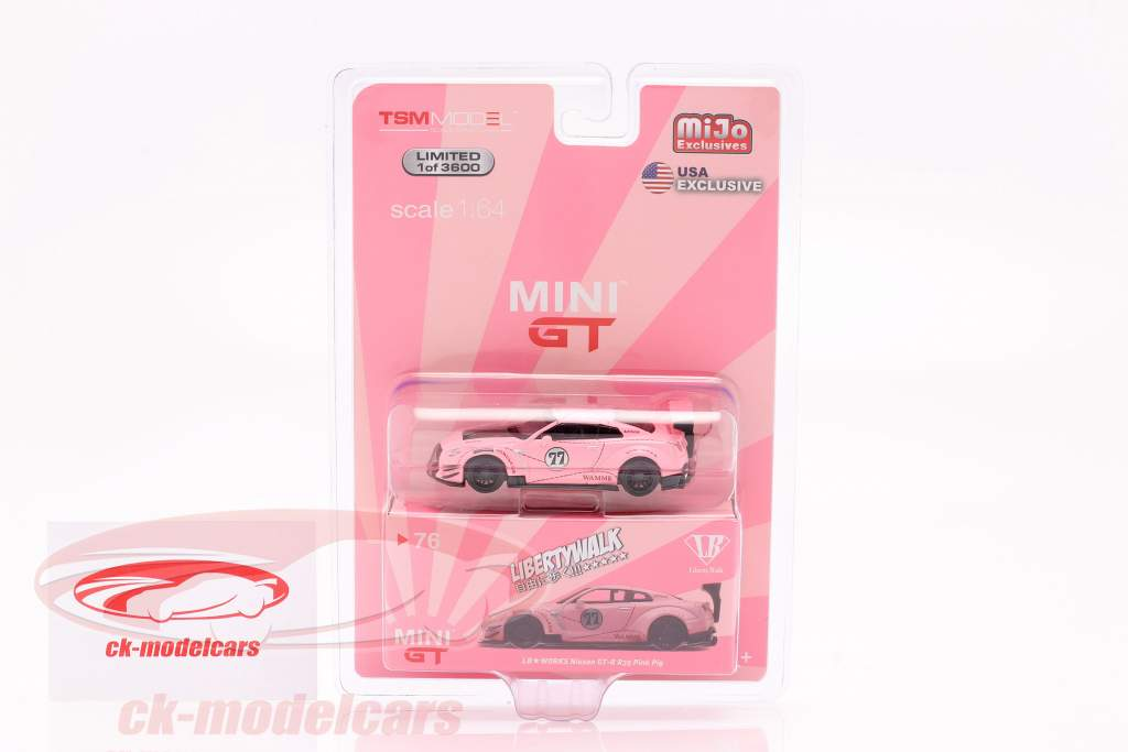 LB-Works Nissan G-TR (R35) Typ 2 LHD Pink Pig in Blister 1:64 TrueScale